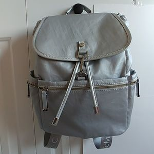 ... Calvin Klein Silver Lobster Claw Flap Backpack ... b8665cfc3e90f